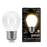 Светодиодная лампа Gauss LED Filament Globe OPAL E27 5W 2700K 105202105