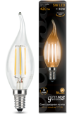 Светодиодная лампа Gauss LED Filament Candle tailed E14 5W 2700K 104801105