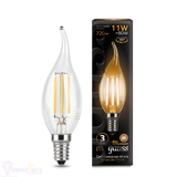 Лампа Gauss LED Filament Свеча на ветру E14 11W 720lm 2700K 104801111