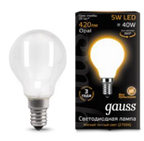Светодиодная лампа Gauss LED Filament Globe OPAL E14 5W 2700K 105201105