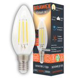 Светодиодная лампа Brawex LED Filament Candle B35 5W 220-240V 3000K E14 IC