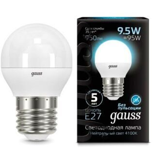 Лампа Gauss LED Globe E27 9.5W 4100K 105102210