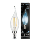 Светодиодная лампа Gauss LED Filament Candle tailed E14 7W 4100K 104801207