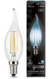 Светодиодная лампа Gauss LED Filament Candle tailed E14 5W 4100K 104801205
