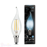 Лампа Gauss LED Filament Свеча на ветру E14 11W 750lm 4100K 104801211