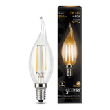 Светодиодная лампа Gauss LED Filament Candle tailed E14 7W 2700K 104801107