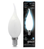 Светодиодная лампа Gauss LED Filament Candle Tailed OPAL E14 5W 4100К 104201205
